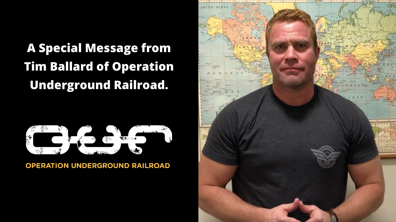 A Special Message from Tim Ballard