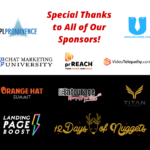 A special thanks to all of our sponsors