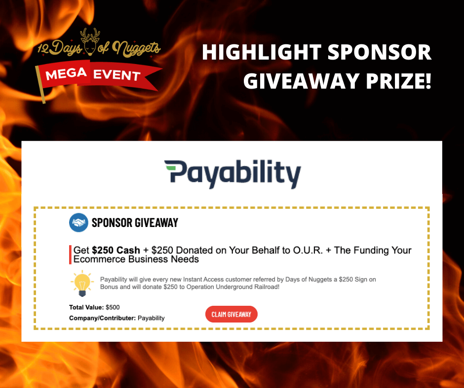 HIGHLIGHT SPONSOR GIVEAWAY from our MEGA EVENT❗-Payability
