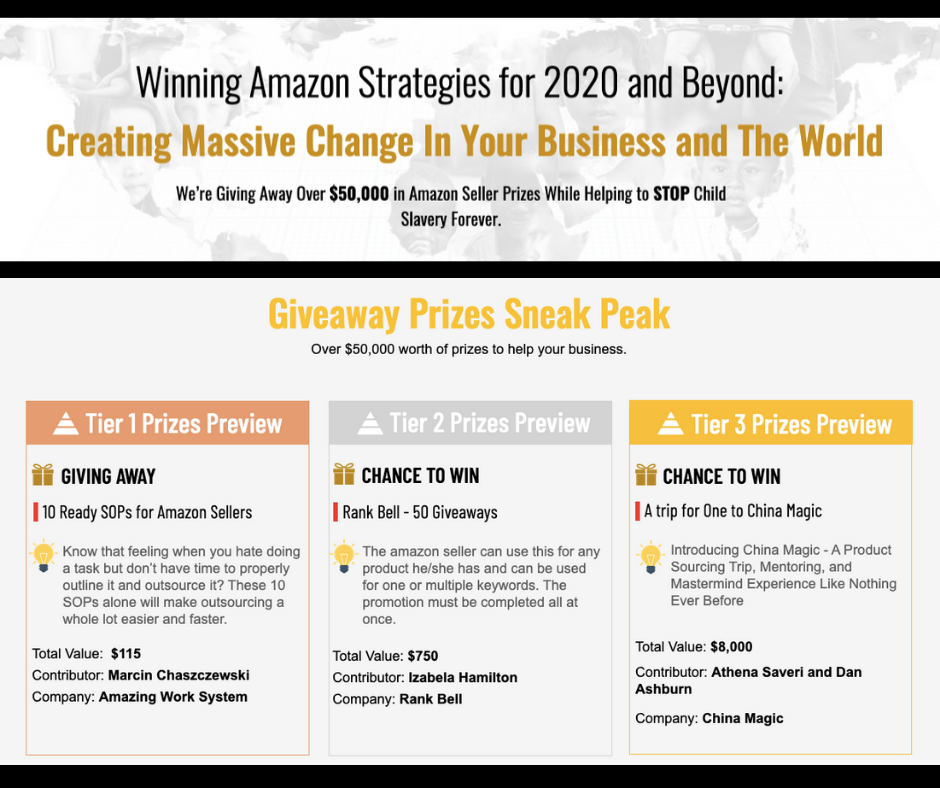 Winning Amazon Strategies for 2020 and Beyond: Creating Massive Change In Your Business and The World
