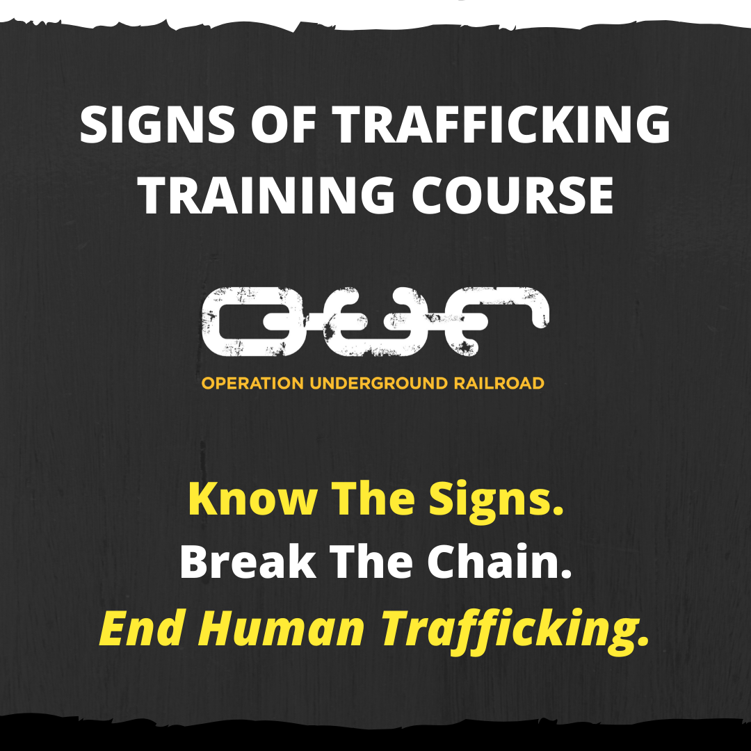 Signs of Trafficking Training